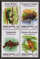 Turtle Turtles Frog Frogs Uruguay MNH 4 Stamps 2001 - Turtles