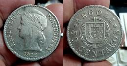 ANGOLA 50 CENTAVOS 1922 Km#65 (G#05-100.23) - Angola