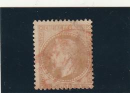///    FRANCE  ///     Type  Napoléon Lauré N° 28B 10 Cts Bistre Cachet Rouge Des Imprimés Côte 70€ - 1863-1870 Napoleon III With Laurels