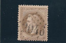 ///    FRANCE  ///     Type  Napoléon Lauré N° 30  30cts Brun Clair Côte 25€ Obl  LILLE - 1863-1870 Napoleon III With Laurels