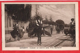ITALY SICILY   GIRGENTI  COSTUMI ED ESTERNO DELLA VILLAGARIBALDI   MULE DONKEY ETHNIC - Other Cities