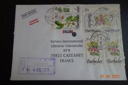 Lettre  RECOMMANDEE DES BARBADES - Barbados (1966-...)