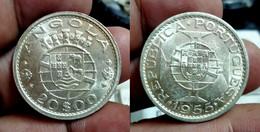 ANGOLA 20 ESCUDOS 1955 Km#74 SILVER BU (G#05-100.27) - Angola
