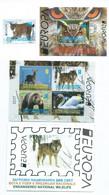 Macedonia 2021 Booklet,Block & Stamp - Europa Cept - ENDANGERED NATIONAL WILDLIFE,Eagle - Owls,lynx,swan,deer - Macedonia