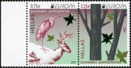 GREECE 2011 Europa CEPT Forests Trees Bird Birds Deer Animals Fauna MNH - Other