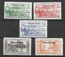 Nouvelles Hebrides Vanuatu Postage Due Mlh * (25 Euros) Tres Petite Trace De Charniere 1957 - Andere