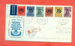 ANNO DEL RIFUGIATO - MARCOFILIA -FDC - RACCOMANDATA - - Indonesia
