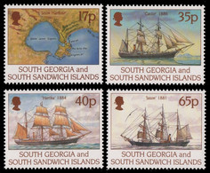 Süd-Georgien 1994 - Mi-Nr. 239-242 ** - MNH - Schiffe / Ships - South Georgia
