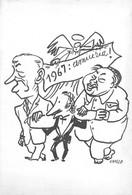 """02830  """"1967: AMICIZIA!"""" CARTONC. AUGURALE DEL PITTORE TORINESE RICCARDO CHICCO - Dessins"""