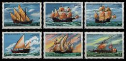São Tomé & Príncipe 1979 - Mi-Nr. 598-603 ** - MNH - Schiffe / Ships - São Tomé Und Príncipe