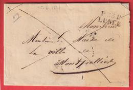 MARQUE P33P LUNEL HERAULT 1827 POUR MONTPELLIER INDICE 11 24X12 BELLE VIGNETTE LE MAIRE DE LUNEL - 1801-1848: Précurseurs XIX