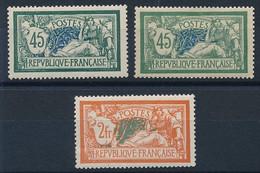 "EA-163: FRANCE: Lot ""MERSON"" Avec N°143* (2 Teintes)-145* - 1900-27 Merson"
