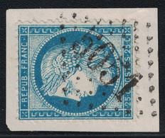 CERES - N°60 - ALGERIE - ORAN - OBLITERATION LOSANGE - GC5051 - FRAGMENT DE LETTRE. - 1849-1876: Classic Period