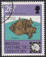 British Antarctic Territory 1991 Used Sc #181 26p Mapping Ice Sheet Treaty 30th Ann - Usati