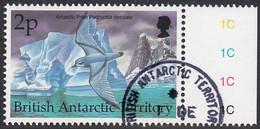 British Antarctic Territory 1998 Used Sc #264 2p Antarctic Prion Birds - Used Stamps