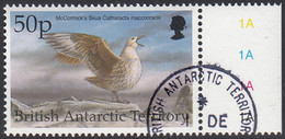 British Antarctic Territory 1998 Used Sc #271 50p McComick's Skua Birds - Used Stamps