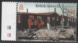 British Antarctic Territory 2001 Used Sc #297 33p Visitors, Penguins - Used Stamps