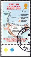 British Antarctic Territory 2001 Used Sc #301 33p Map Of Route 1901-04 Expedition - Usati
