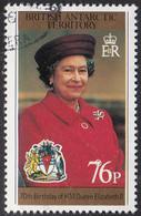 British Antarctic Territory 1996 Used Sc #243 76p Red Coat QEII's 70th Birthday - Used Stamps