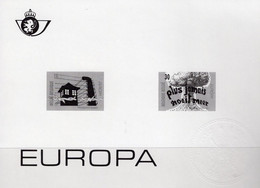 CEPT Belgien 2649/50B SD-Block I/1995 ** 60€ Imperf. EUROPA Frieden Freiheit Bloque Hoja Bloc Art Black Sheet Bf Belgica - 1995