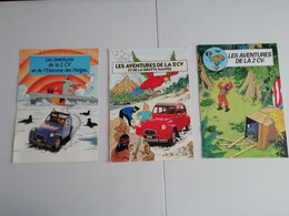 "3 Brochures Aventures De La 2 CV ""Tintint Citroen""  , Frais De Port Gratuit France - Oggetti Pubblicitari"