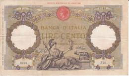 BILLETE DE ITALIA DE 100 LIRE DEL AÑO 1932  (BANKNOTE) - 100 Lire
