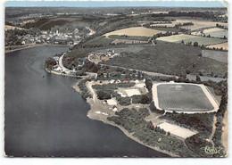 Jugon. Vue Generale Aerienne Du Lac.  Le Terrain De Sport Tennis Camping.  Edit Cim  Postée 1970 Football - Jugon-les-Lacs