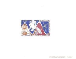 Luxe Sheet Polynesie Francaise 1976 Telephone Bell IMPERF - Blokken & Velletjes