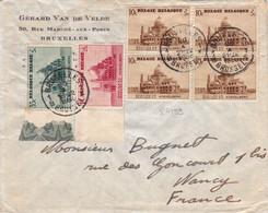 24199# BELGIQUE BASILIQUE KOEKELBERG LETTRE Obl BRUXELLES BRUSSEL 1938 Pour NANCY MEURTHE ET MOSELLE - Covers & Documents