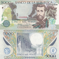 Colombia - 5000 Pesos 31.08. 2013 P. 452o UNC Lemberg-Zp - Colombia