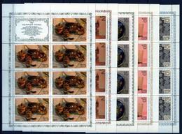 Sowjetunion/Russia 1979 Mi.4849-53 Volkskunst 5 Kleinbögen/Sc.4753-57 M/S Musicians, Bears **/MNH - Blokken & Velletjes