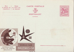 EXPO 58 - Publibel 09 - World Fair Brussels 1958 - Covers & Documents
