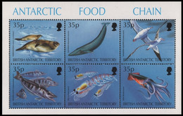 BAT / Brit. Antarktis 1994 - Mi-Nr. Block 2 ** - MNH - Fauna - Unused Stamps