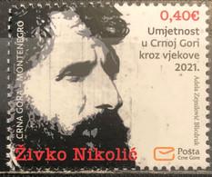 Montenegro, 2021, Art Through The Centuries In Montenegro - Zivko Nikolic, 1941-2001 (MNH) - Montenegro