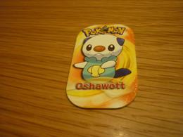 Oshawott Water-type Pokemon 2014 Greek Edition Rare Metal Tag #369 - Pokemon