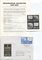 DDR # 2949 IOC Pressemitteilung + FDC + Fotovorlage, SELTEN! Olympisches Komitee. - Covers & Documents