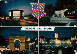 21 - Dijon - La Nuit - Multivues - Automobiles - Blasons - Flamme Postale - CPM - Voir Scans Recto-Verso - Dijon