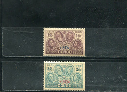 Congo Belge 1936 Yt 192-193 * - 1923-44: Gebraucht