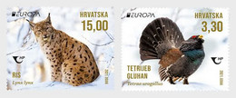 Croatia.2021.Europa CEPT.Endangered National Wildlife.2 V. ** . - 2020