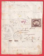 N°16 PC 2709 ROCROI ARDENNES SUR BANDE CHARGE TRIBUNAL GRANDE INSTANCE SIGNY LE PETIT - 1849-1876: Klassieke Periode