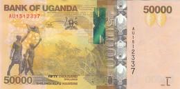 UGANDA 50000 SHILINGS 2021 P-54 NEW DATE AU/UNC */* - Uganda