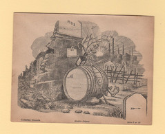 Enveloppe Illustree Neuve - Porte Timbre -  Collection Gravelle - Abri De Fortune - Le Tonneau - 1877-1920: Semi Modern Period