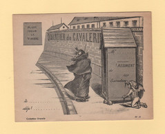 Enveloppe Illustree Neuve - Porte Timbre -  Collection Gravelle - Quartier De Cavalerie - 1877-1920: Semi Modern Period