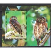 🚩 Sale - Cuba 2019 Birds - Owls  (MNH)  - Birds, Owls - Blocks & Sheetlets