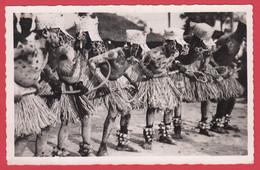 CPSM- OUBANGUI ( A.E.F)- Ann.50 -Danse De Fin De La Circoncision Chez Les M'Baka-Mandja  *Scan Recto/Verso - Repubblica Centroafricana