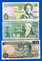Jersey  2  Billets  Guernesey  1  Billets - Jersey