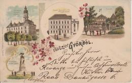 HONGRIE - GYORBOL - LITHO 4 VUES - Hungary