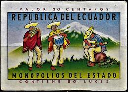 Vintage Ecuador Matchbox Label - Music Player - Boites D'allumettes - Etiquettes