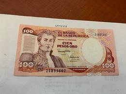 Colombia 100 Pesos Uncirc. Banknote 1991 - Colombia