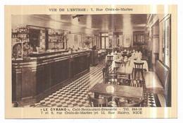"""Nice """" Le Cyrano """" Café Restaurant Brasserie Vue De L' Entrée : 7, Rue Croix De Marbre - Cafés, Hoteles, Restaurantes"""